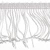 Fringe Rayon 2 inch White Stretchy